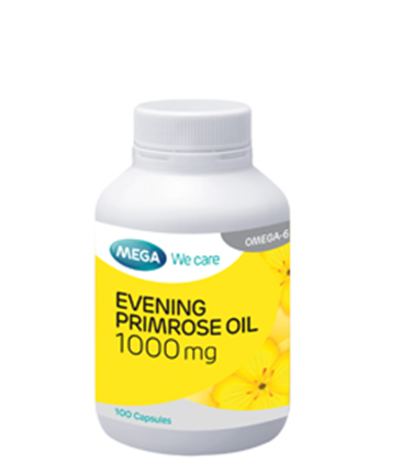 00015 : Mega We care Evening primrose oil 1000 mg - 100 capsule